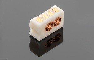Micro-injection molded ceramic coil assembly